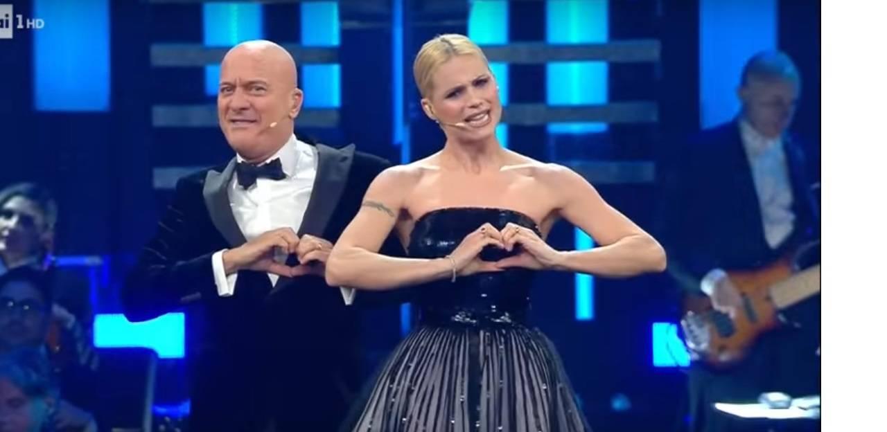 Claudio Bisio e Michelle Hunziker