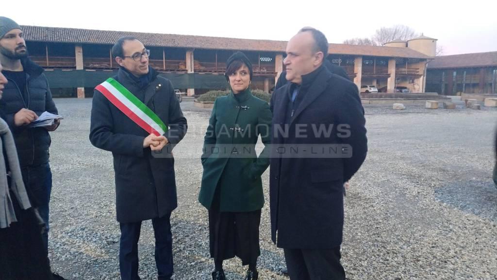 Il ministro Bonisoli a Cavernago e Malpaga