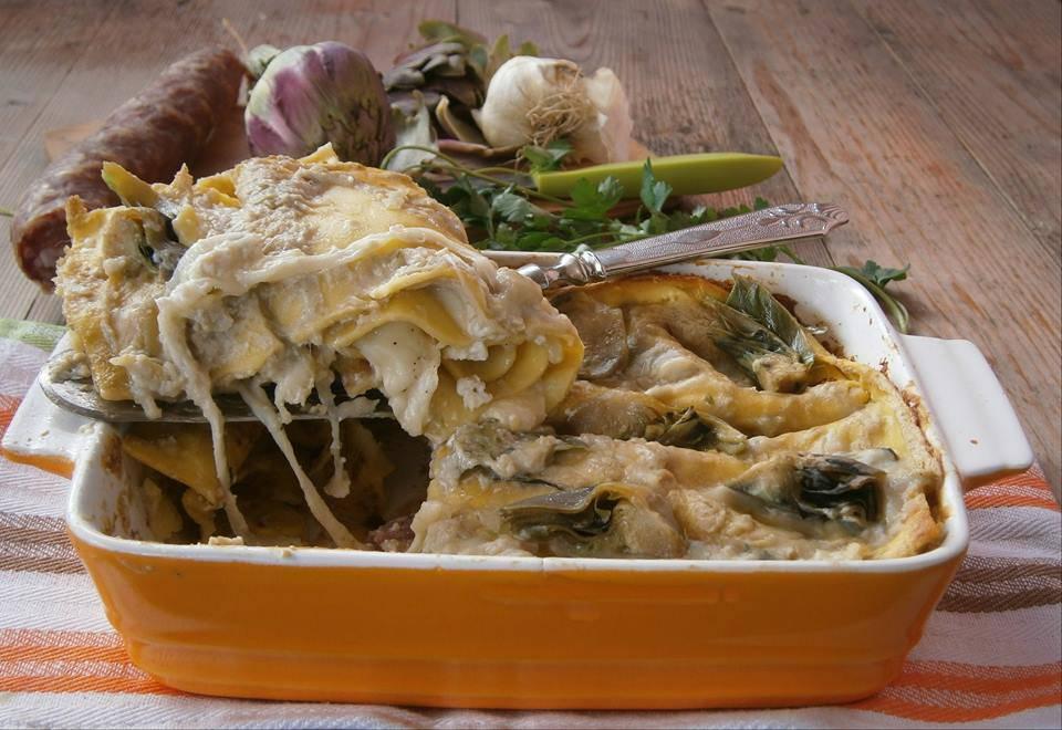 lasagne carciofi ricotta