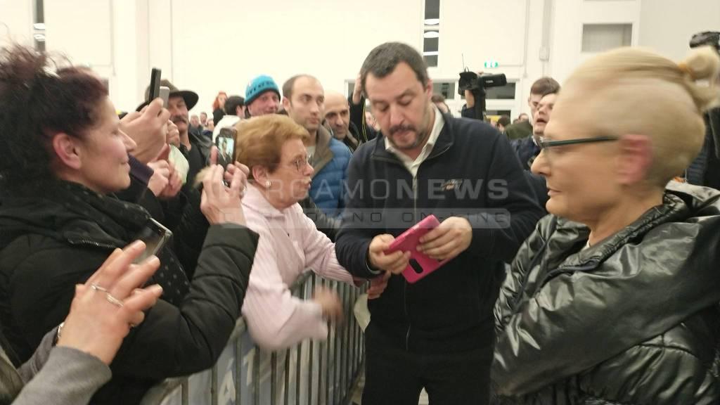 Salvini a Spirano per la prima festa invernale della Lega
