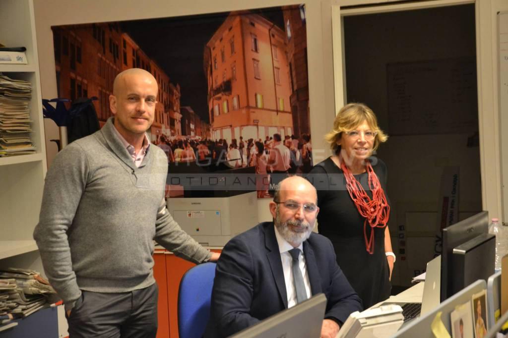 Vito Crimi in redazione a Bergamonews