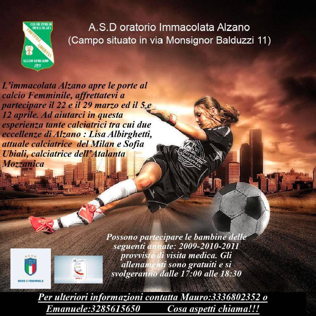Ad Alzano, quattro giornate dedicate al calcio femminile