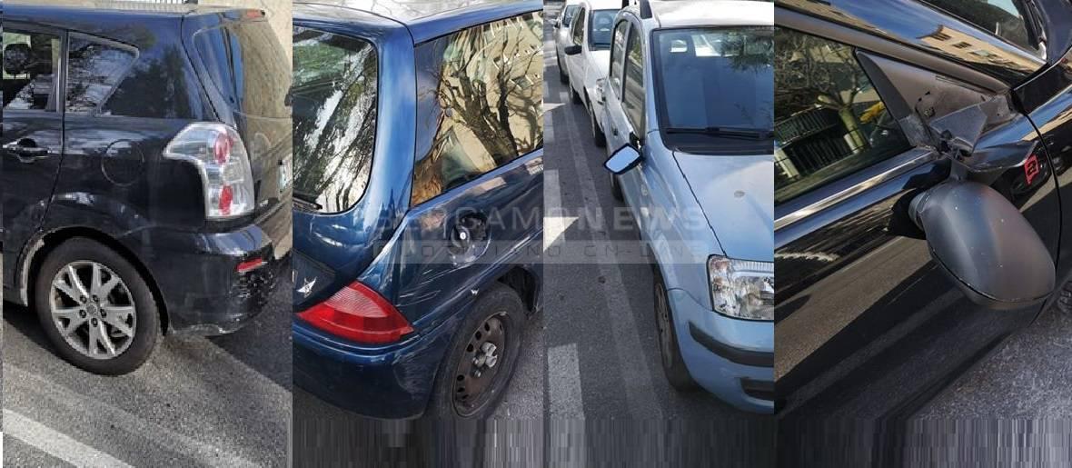 Auto danneggiate in via Diaz