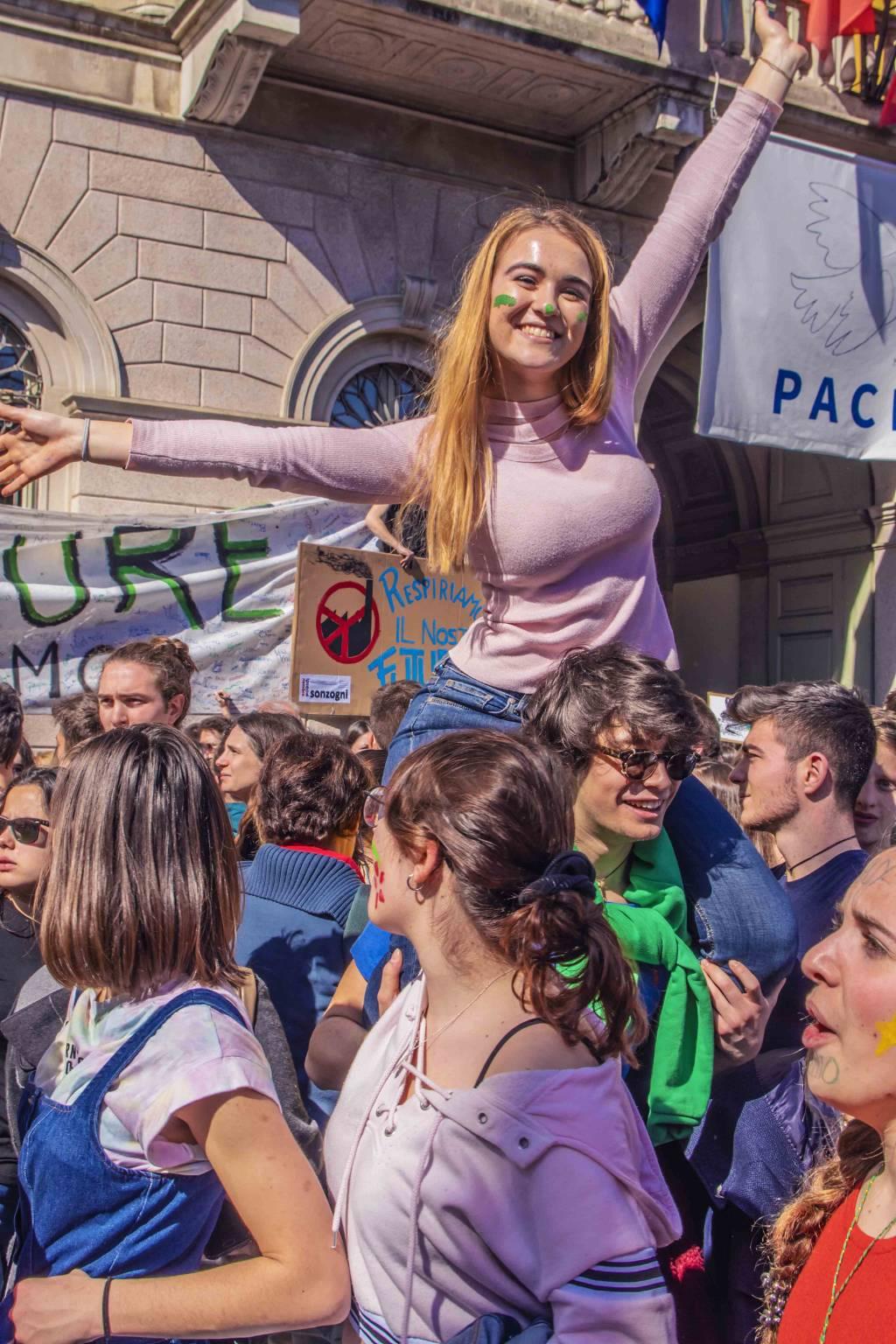 Clima, la manifestazione a Bergamo/2