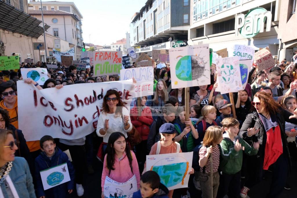I giovani in manifestazione per il clima