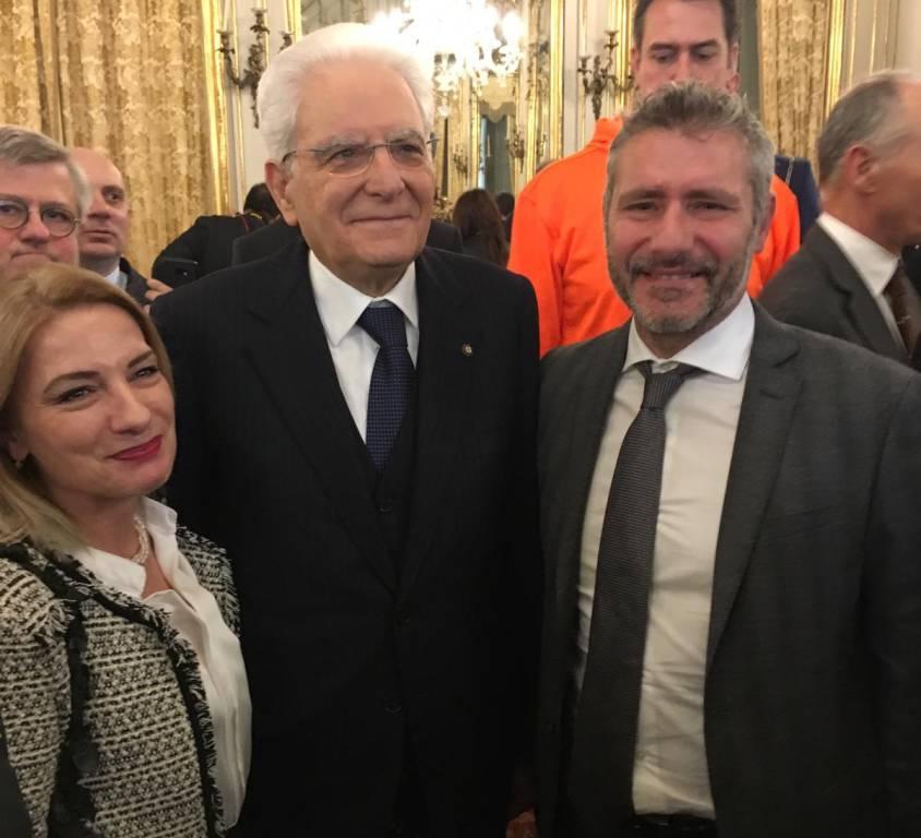Igor Trocchia con il presidente Mattarella