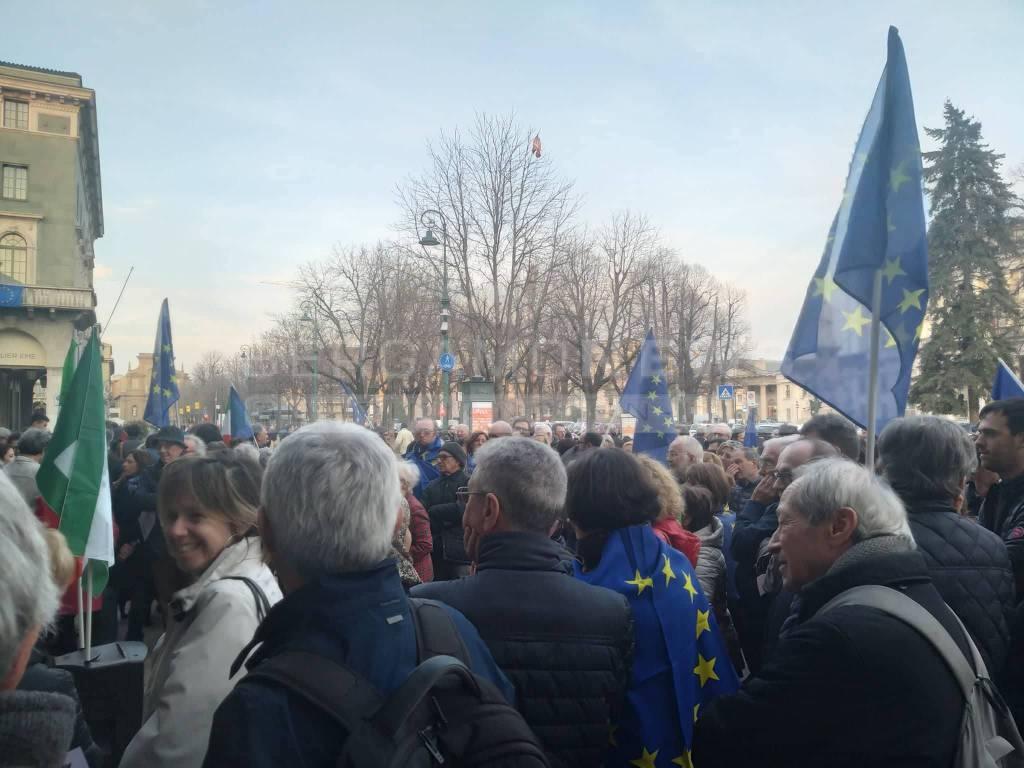 """In piazza Matteotti """"per un'Europa federale, democratica e solidale"""""""