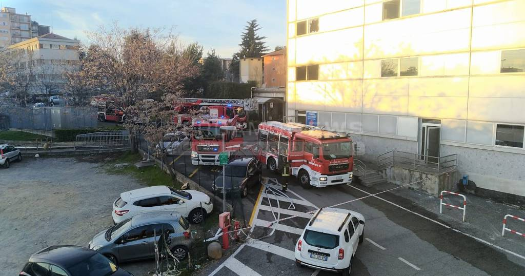 Incendio ospedale Seriate