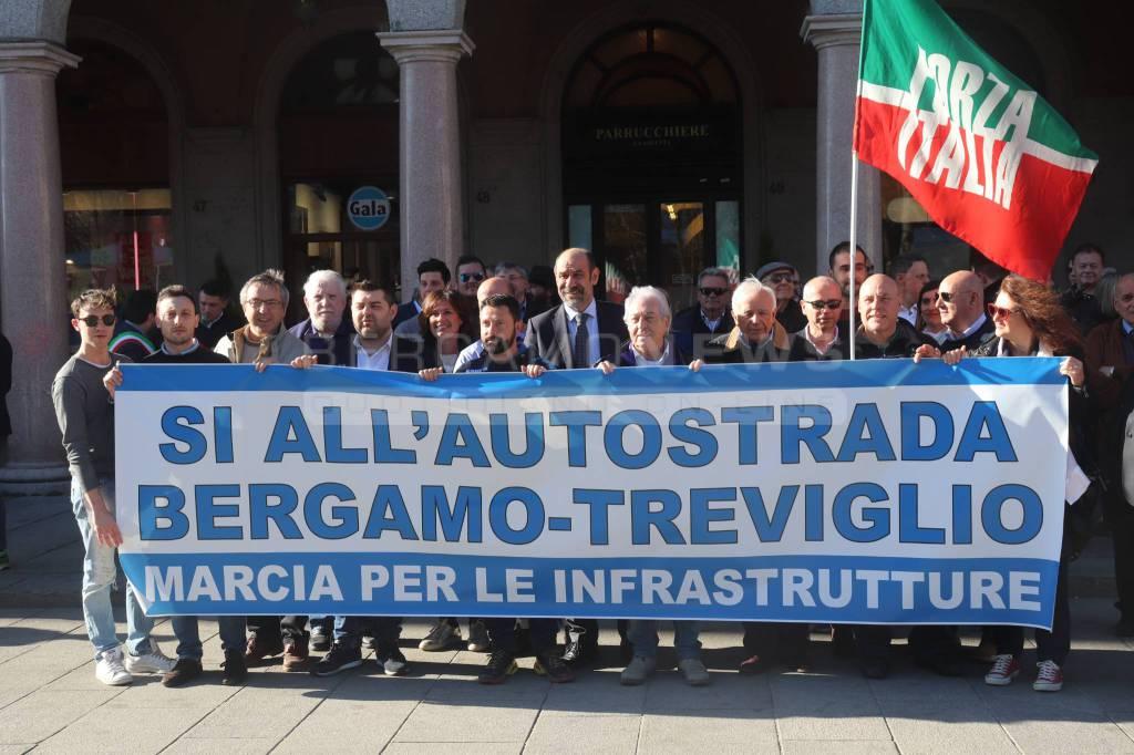 Marcia a sostegno della Bergamo-Treviglio