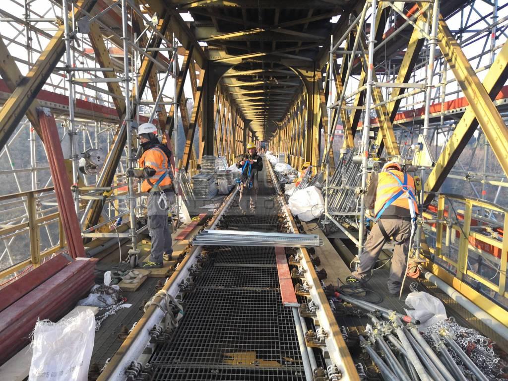 Pista ciclabile ponte di Calusco