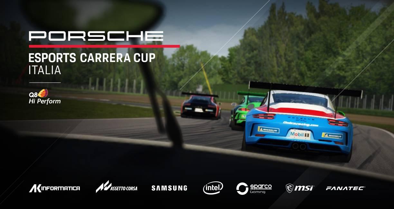 Porsche Esports Carrera Cup Italia, al via la nuova edizione del monomarca virtuale