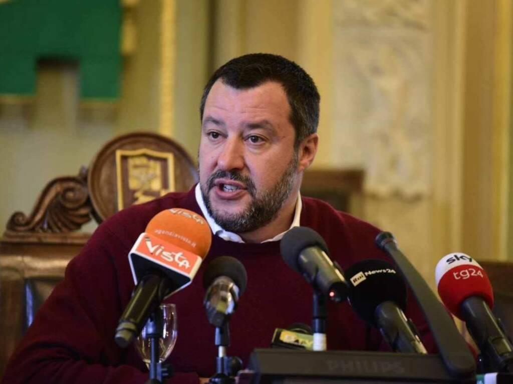 Salvini a Bergamo: vertice in Prefettura sulle torri di Zingonia