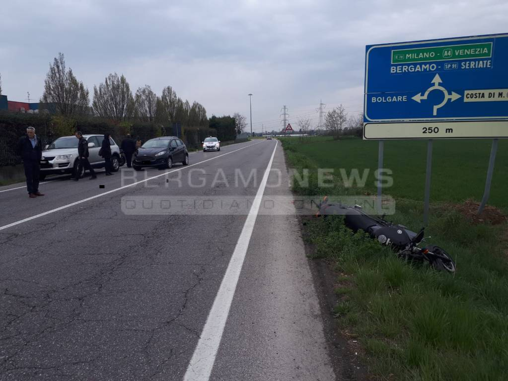 Incidente stradale a Gorlago