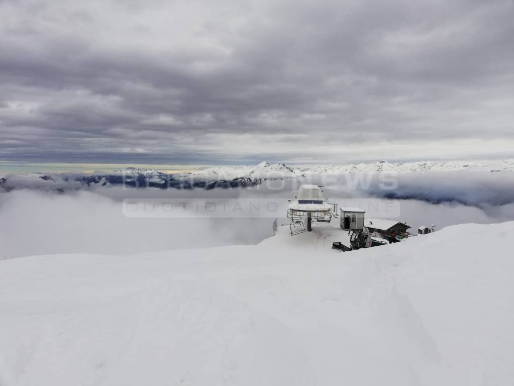 monte pora nevicata aprile 2019