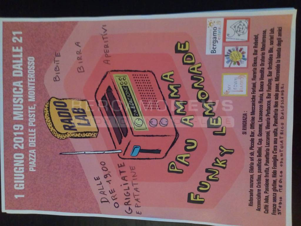 Concerto Radio Lab - Pau Amma e Funkly Lemonade