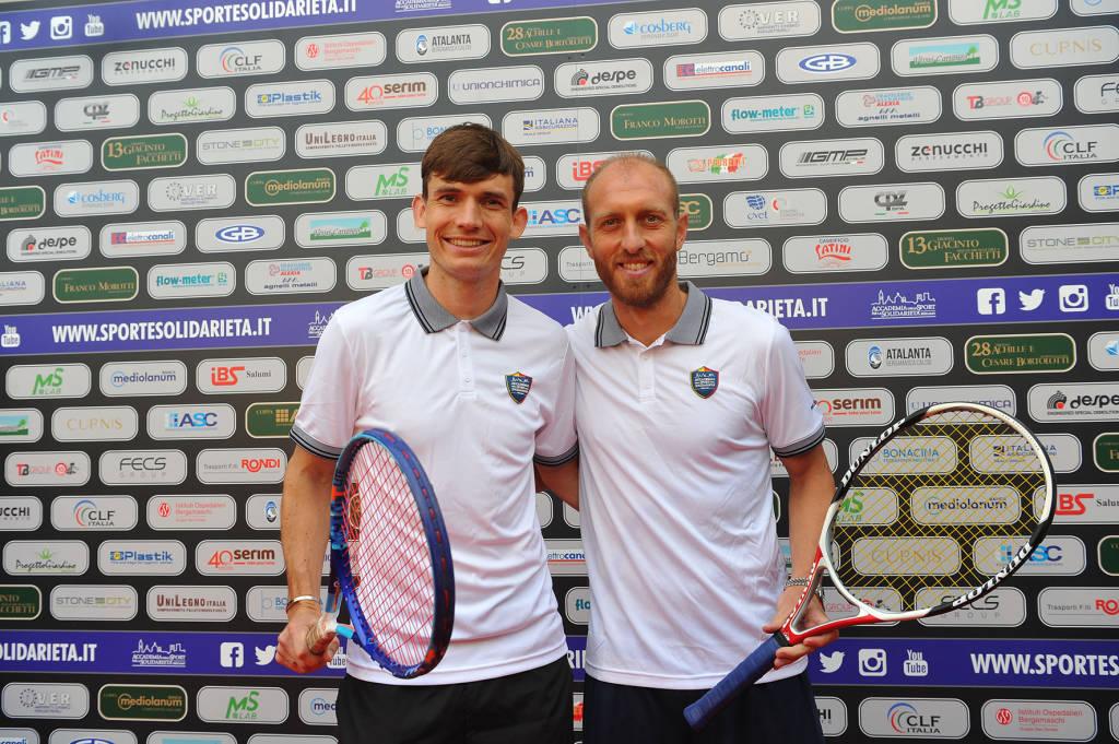 de Roon e Masiello al Tennis 2019