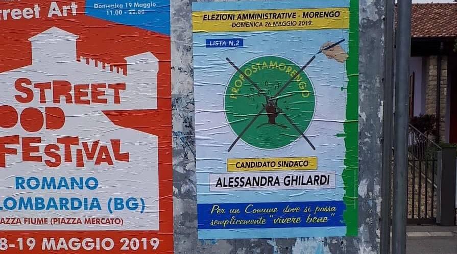 Manifesti elettorali Morengo