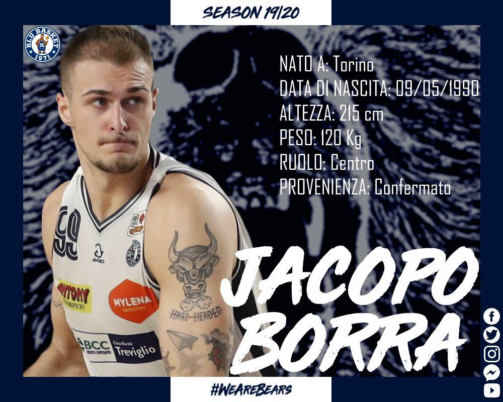 Blu Basket Treviglio rinnova con Borra