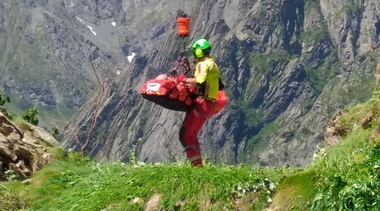 Escursionista precipitato