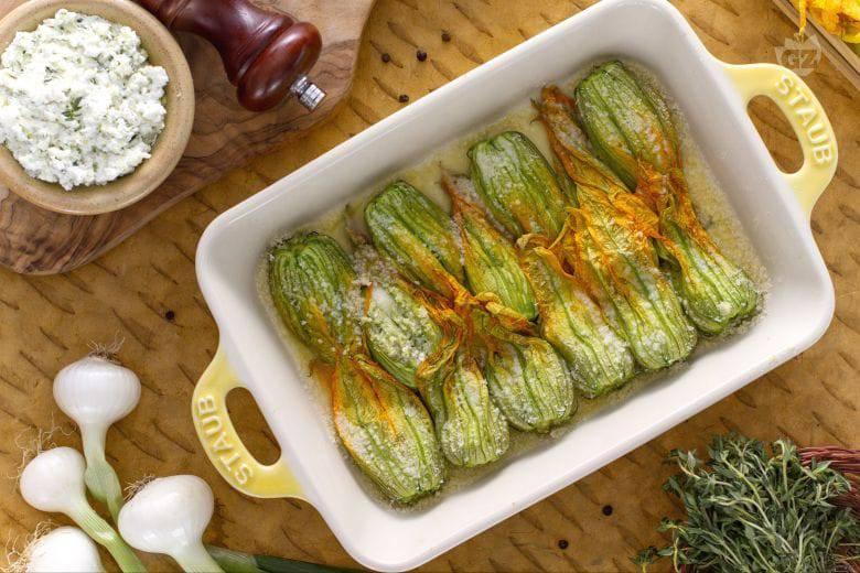 fiori zucchina forno