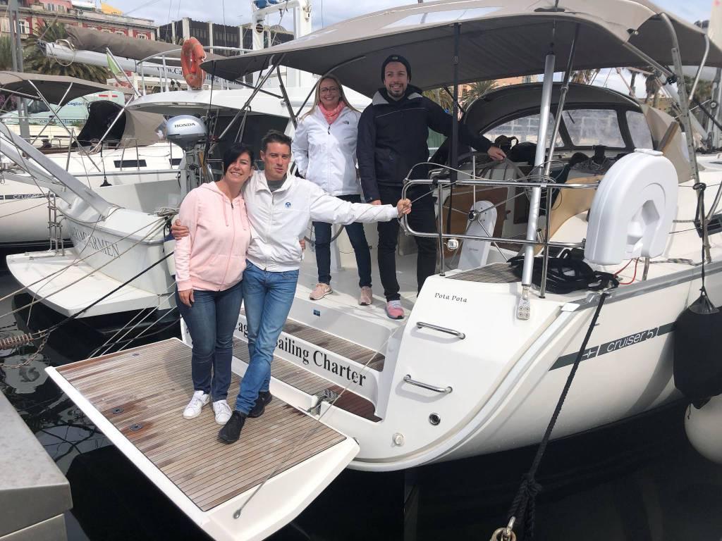 Gita in barca a vela per la scuola superiroe Leonardo Da Vinci