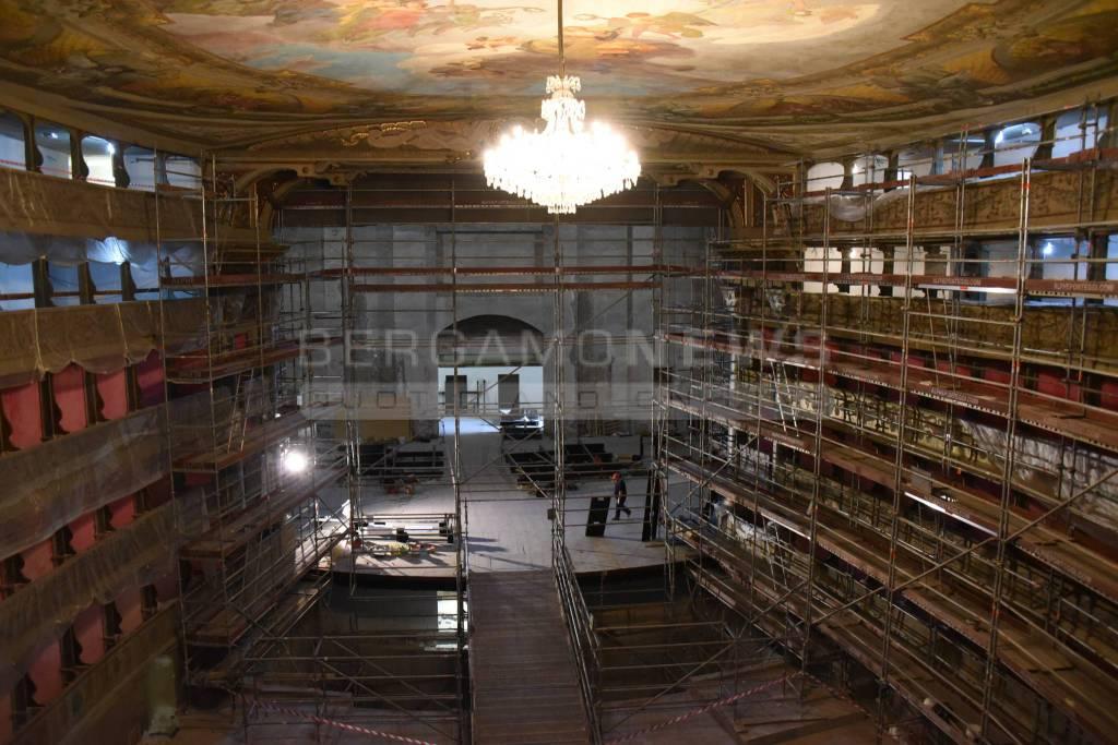 Restauro del Donizetti: parte la fase due