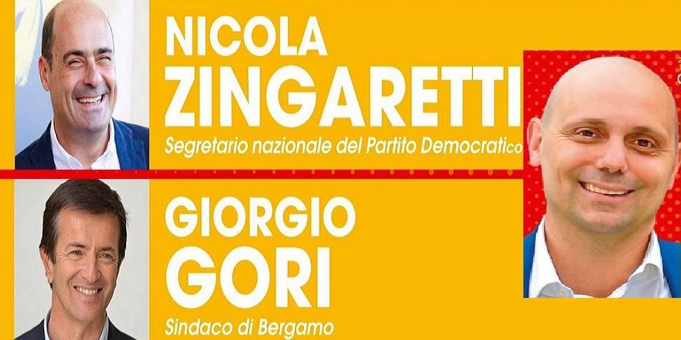Zingaretti e Gori a Romano per sostenere Sebastian Nicoli