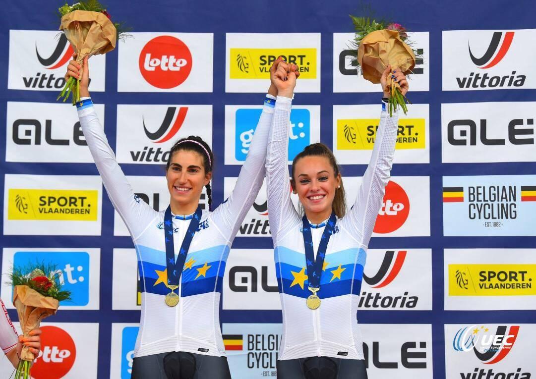 Elisa Balsamo e Letizia Paternoster - Europei Under 23 e Juniores Ciclismo su pista 2019