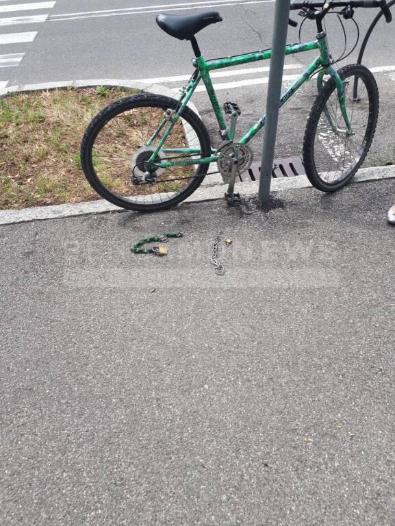 Furto bici italcementi
