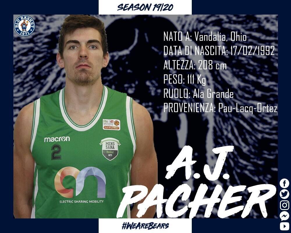 La Blu Basket firma AJ Pacher sotto le plance