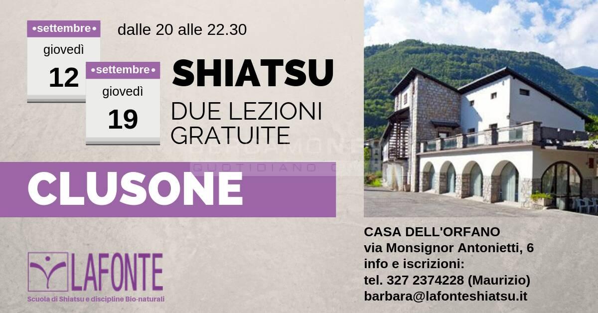 Shiatsu, due lezioni gratuite a Clusone
