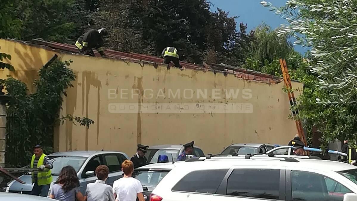 crolla tetto all'ospedale di Romano