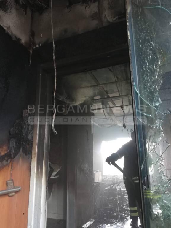 Incendio ospedale Bergamo