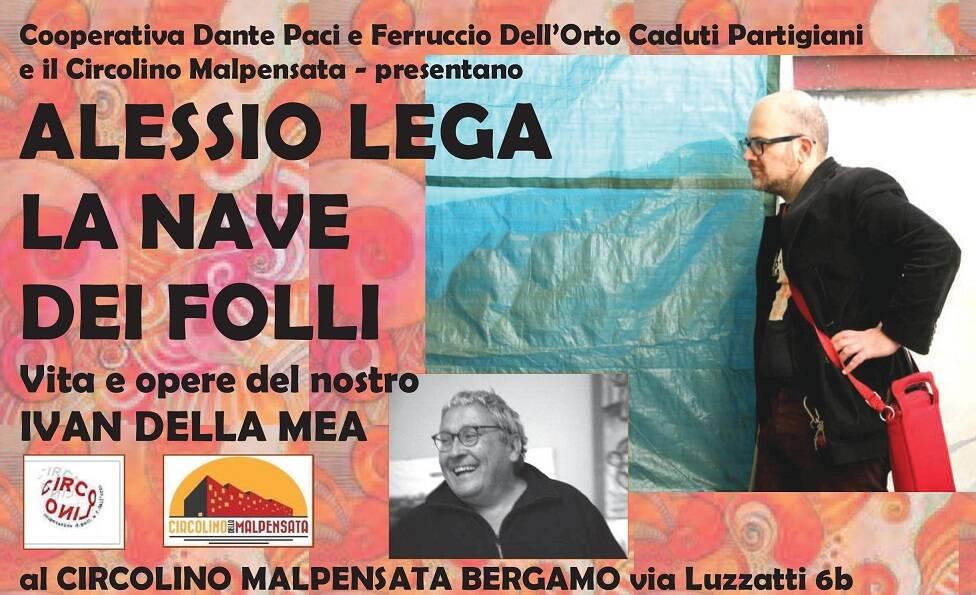 Alessio Lega Targa Tenco Bis A Bergamo Con Libro E Canti Su Ivan Della Mea Bergamo News