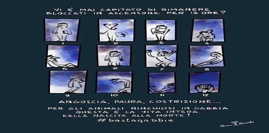 Basta crudeltà sugli animali: la vignetta di Bruno Bozzetto