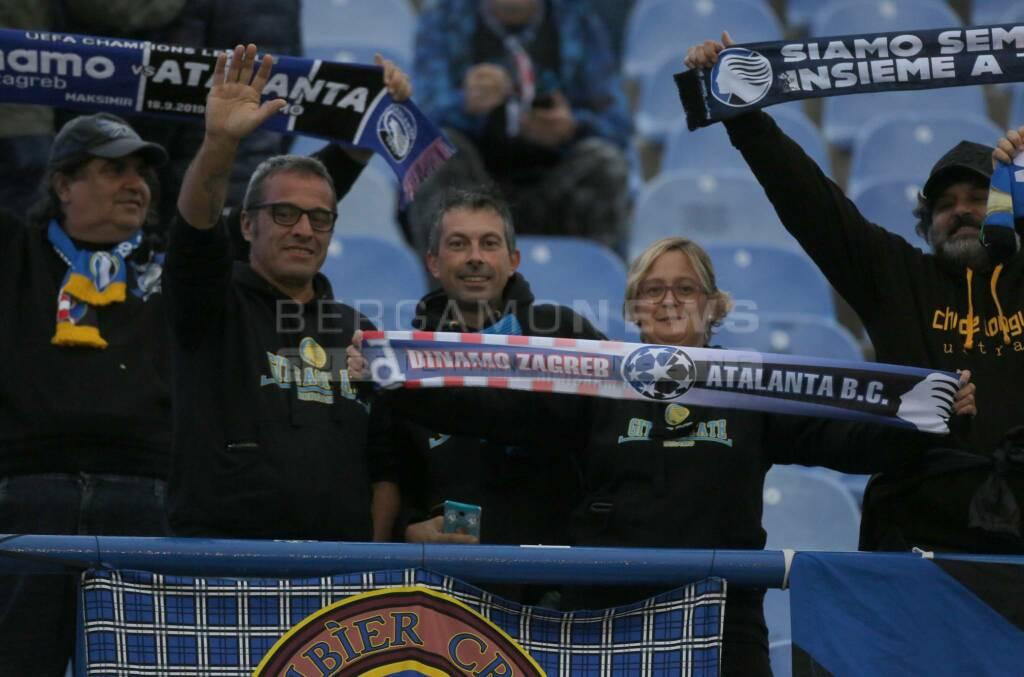 Dinamo Zagabria-Atalanta: i tifosi al Maksimir