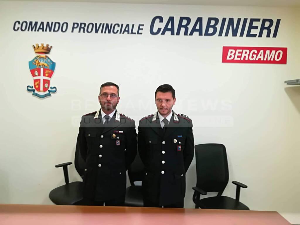 Filippo Testa e Daniele Falcucci, nuovi comandanti di Clusone e Treviglio