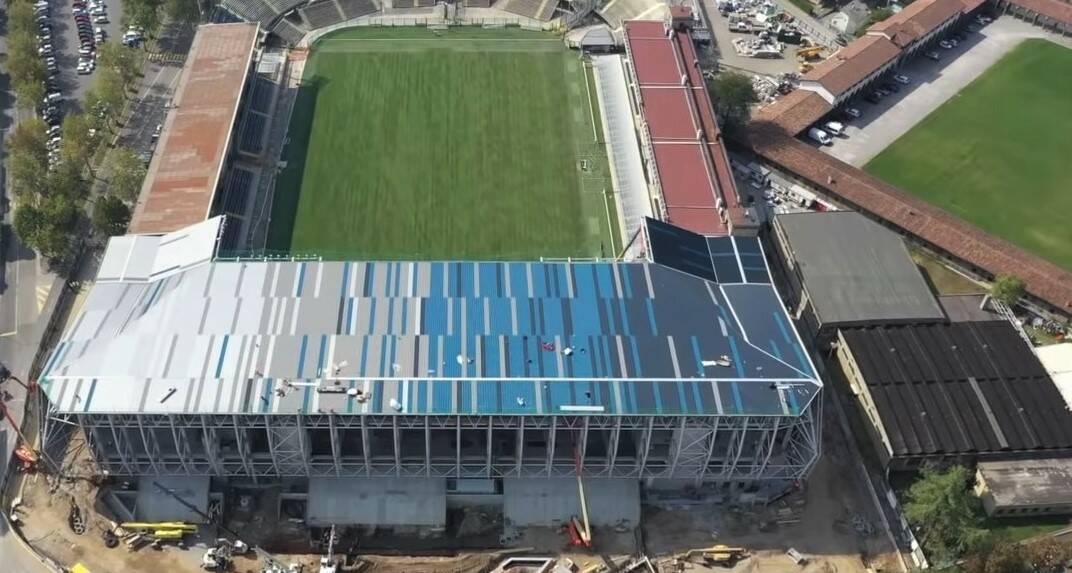 Gewiss Stadium lavori