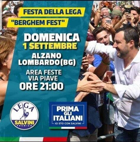 Salvini alla Berghem Fest