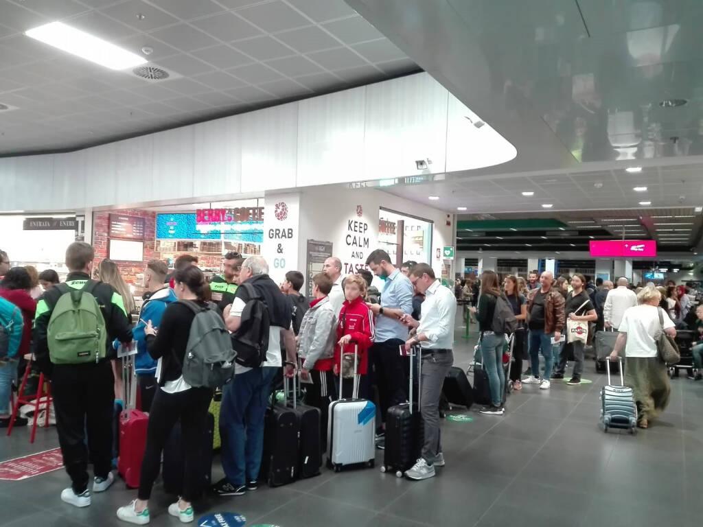 sciopero all'aeroporto