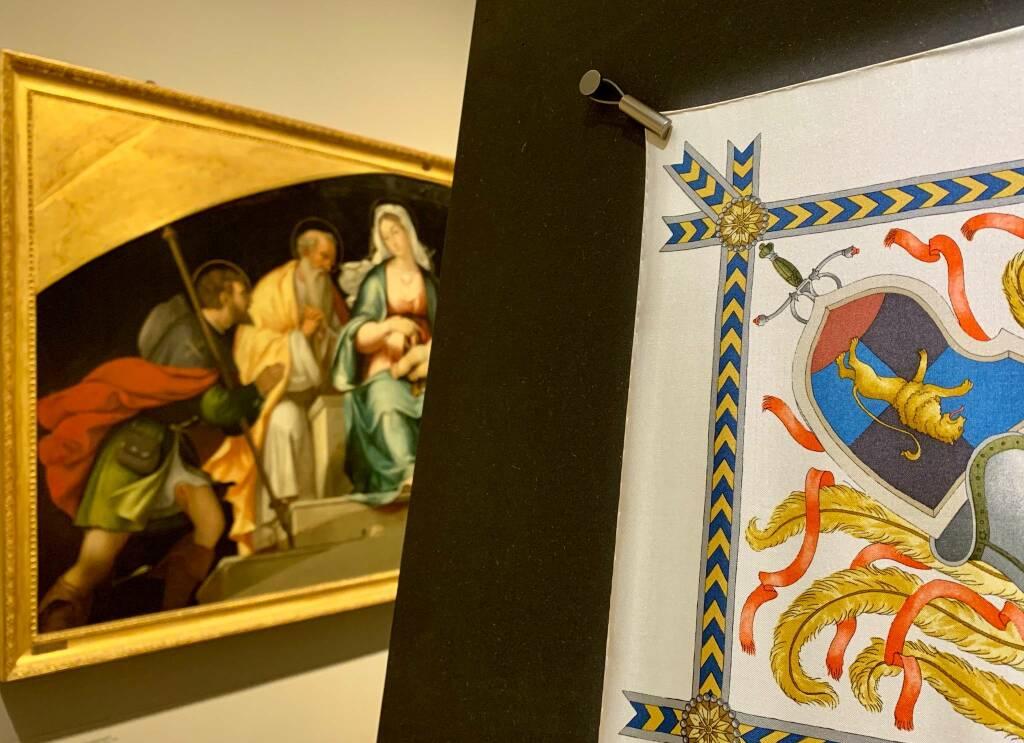 Vittorio Accornero per Gucci, 35 foulard all'Accademia Carrara