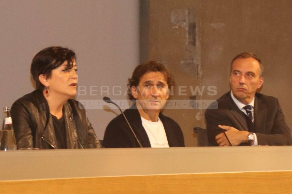 Alex Zanardi all'università di Bergamo