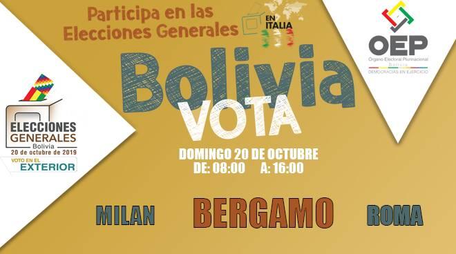 Bergamo ospita le elezioni presidenziali della comunità boliviana all'estero