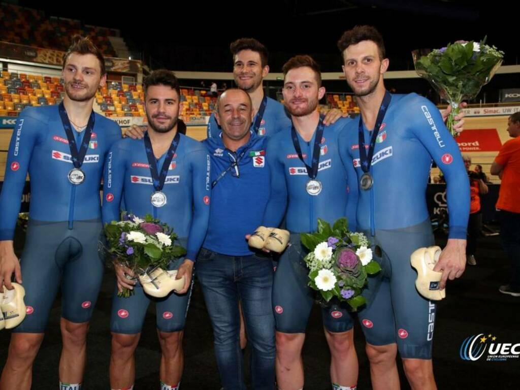 Davide Plebani e Simone Consonni - Campionati Europei di ciclismo su pista 2019