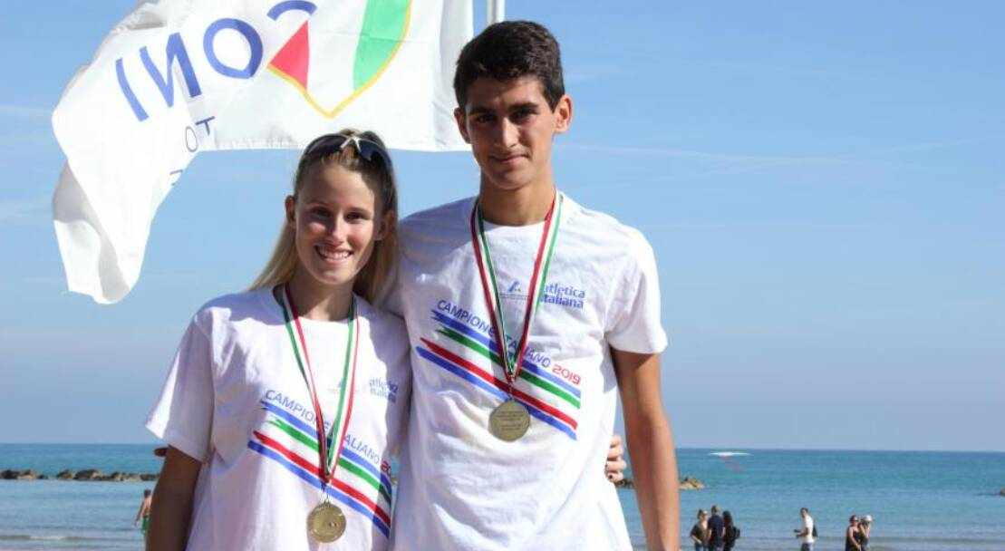 Gabriele Gamba e Martina Casiraghi - Campionati Italiani Allievi di marcia su strada 2019