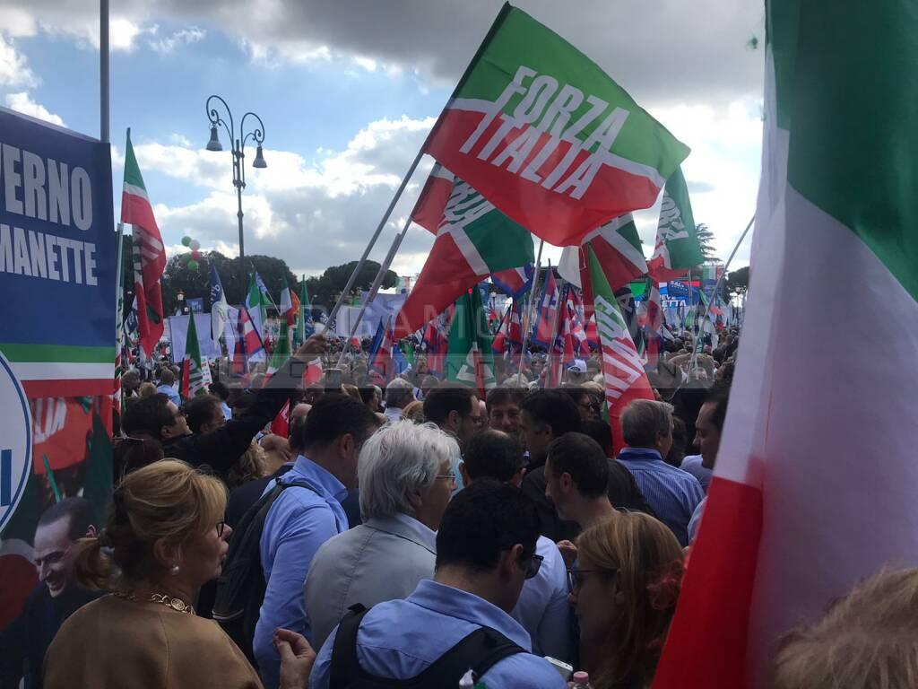 manifestazione centrodestra