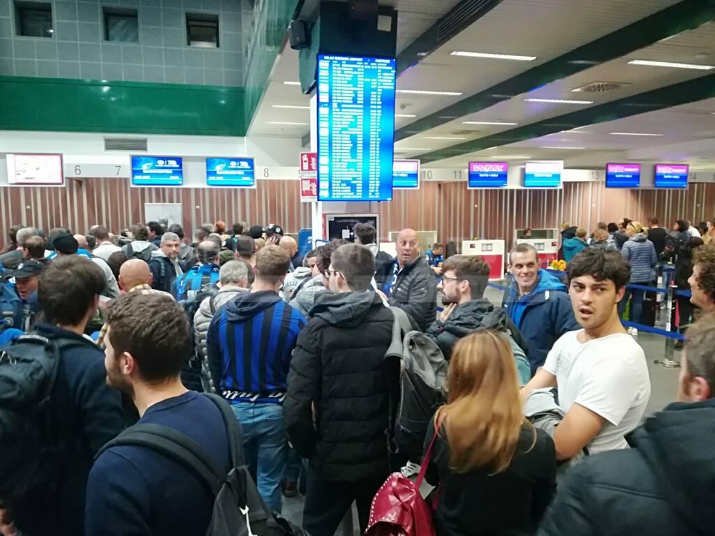 Gli Atalantini in partenza per Manchester
