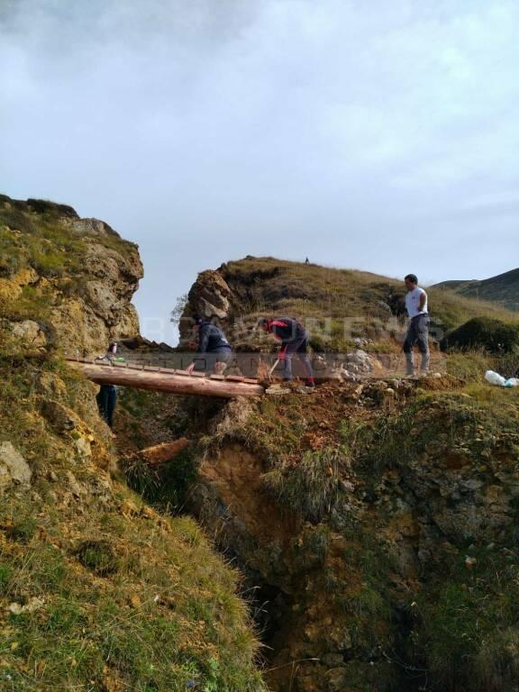 Il ponte in montagna tra Azzone e Valbondione