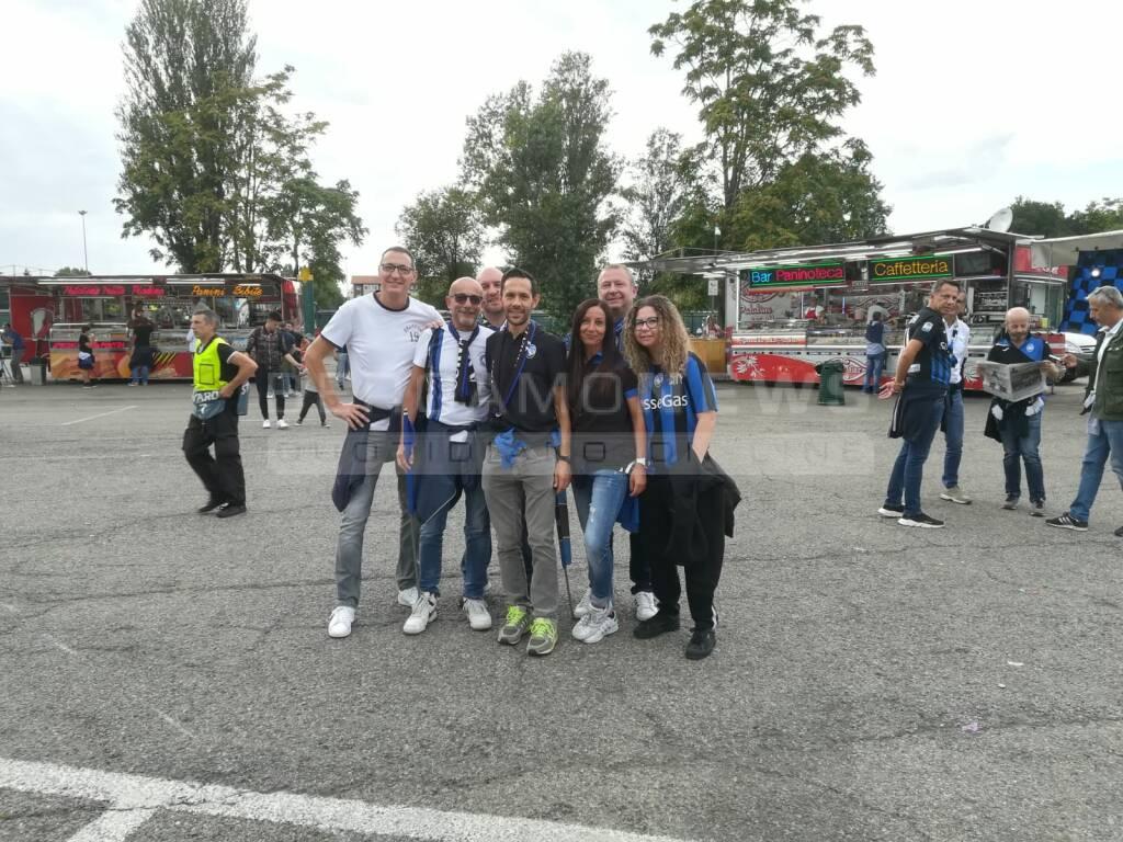 L'arrivo dei tifosi atalantini a San Siro