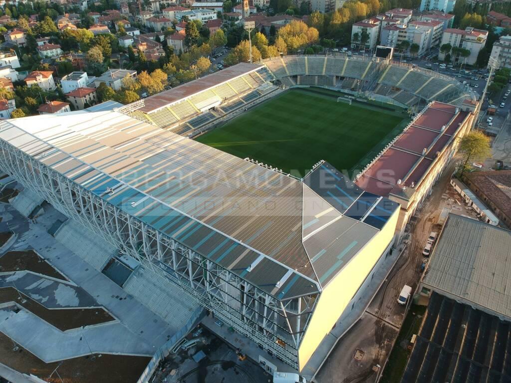 La nuova Curva Nord del Gewiss Stadium